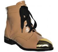 Ботинки лакированные «Felli Step» бежевые