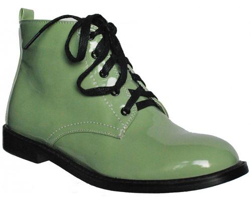 Ботинки лакированные «Felli Step», оливковые
