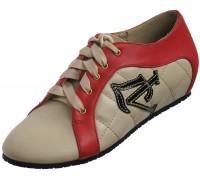 Туфли женские из искусственной кожи «Felli Step», с красным