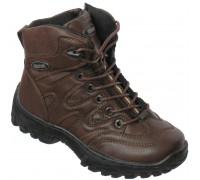 Ботинки зимние для мальчиков шнурки + замок «HeroTank» (30-35), 7327-2 коричневые