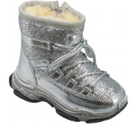 Ботинки зимние детские «Капитошка» серебро