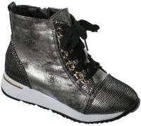 Ботинки «Котенок» черное серебро