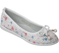 Туфли «Котенок» белые с розовым