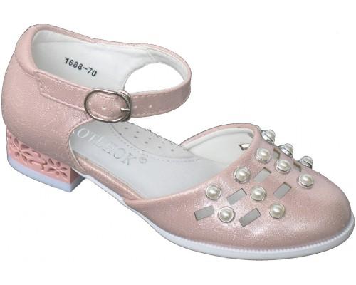 Туфли праздничные «Котенок» розовые