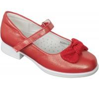 Туфли праздничные «Котенок» красные