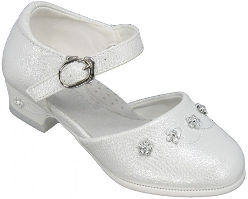 Туфли праздничные, детские «Котенок» белые