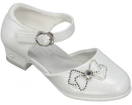 Туфли детские, праздничные «Котенок» белые