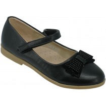 Туфли школьные, для девочек «Ладья» черные