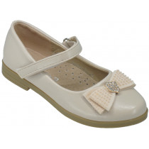 Туфли детские для девочек «Ладья» бежевые