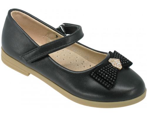 Туфли детские для девочек «Ладья» черные