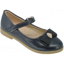 Туфли детские для девочек «Ладья» темно-синие