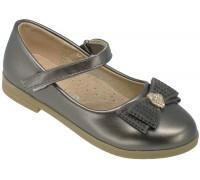 Туфли детские для девочек «Ладья» бронза