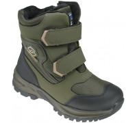 Ботинки зимние детские «Леопард» зелёные