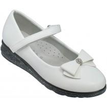 Туфли школьные, для девочек «Ладья» белые