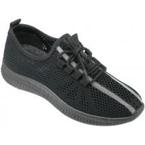 Кроссовки подростковые сетка « М.Мичи-GOGC» черные
