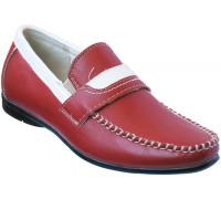 Мокасины для мальчиков «Maierfa» красные с белым принтом