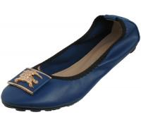 Балетки «Necosia» синие с брошью