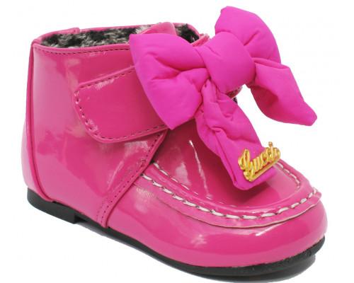 Ботинки осень-весна для девочек «Pafi» малиновые, размеры с 21 по 26