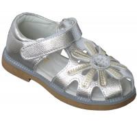 Сандалии детские для девочек «Pafi» серебро