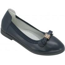 Туфли школьные, для девочек «Пчелка» синие