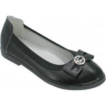 Туфли школьные, для девочек «Пчелка» черные