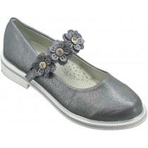 Туфли школьные для девочек «Пчелка» серые