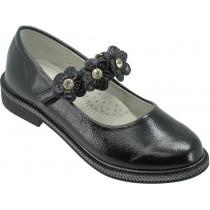 Туфли школьные для девочек «Пчелка» черные