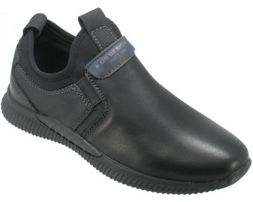 Туфли школьные, для мальчиков «Пчелка» черные