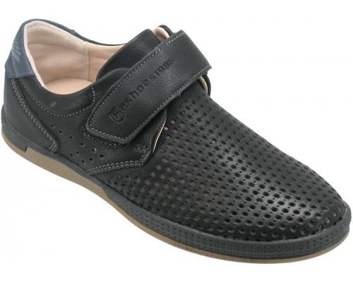 Туфли школьные для мальчиков «Пчелка» черные