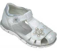 Сандалии детские для девочек «Пчелка» серебро