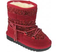 Угги детские для девочек «Пчелка» красные