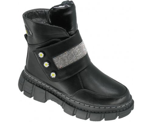 Ботинки зимние детские для девочек «Пчелка» черные