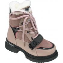 Ботинки зимние детские для девочек «Пчелка» розовые