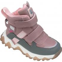 Кроссовки зимние детские для девочек «Пчелка» розовые
