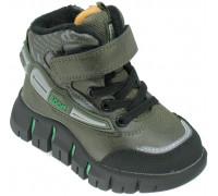 Ботинки демисезонные для мальчиков «Пчелка» зеленые