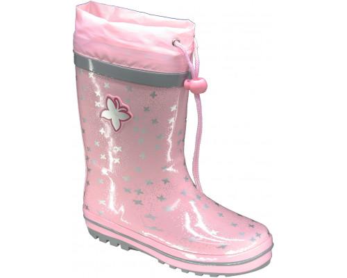 Сапоги резиновые детские для девочек «Пчёлка» розовые