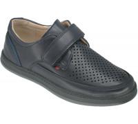 Туфли школьные для мальчиков «Пчёлка» темно-синие
