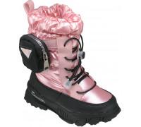 Сапоги зимние детские, для девочек «Пчёлка» розовые