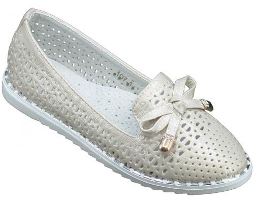 Туфли детские, для девочек «Пчелка» бежевые