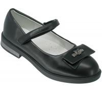 Туфли детские, для девочек «Пчелка» черные