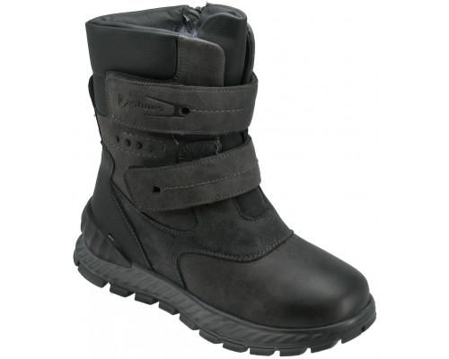 Ботинки зимние для мальчиков «Пчелка» темно-серые