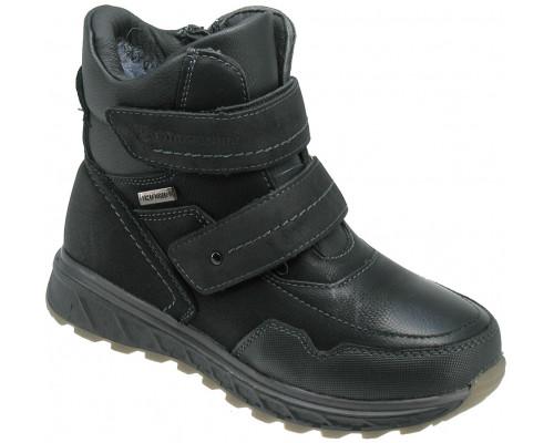 Ботинки зимние детские для мальчиков «Пчелка» черные