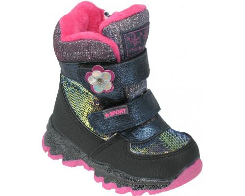 Ботинки зимние детские для девочек «Пчелка» синие