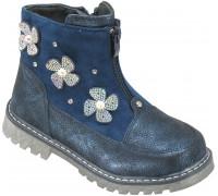 Ботинки демисезонные детские для девочек «Пчелка» синие