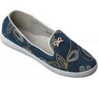 Туфли джинсовые «Ромашка» синие