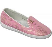 Слипоны «Ромашка» розовые