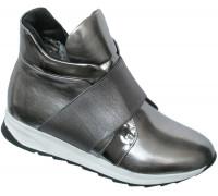 Ботинки «Ромашка» серебро