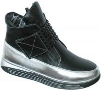 Ботинки «Ромашка» черные
