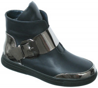 Ботинки «Ромашка» синие