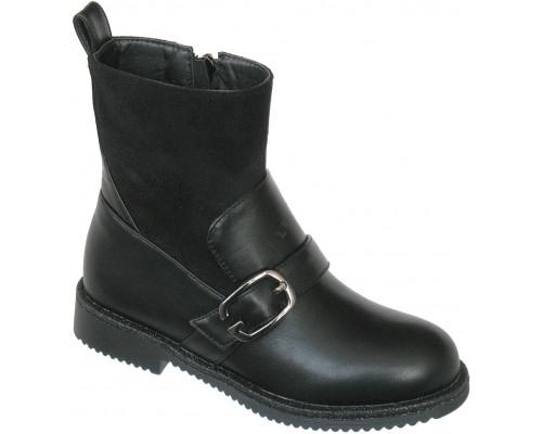 Ботинки демисезонные «Ромашка» черные